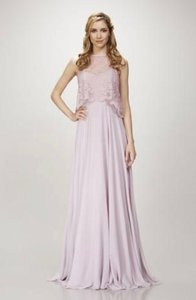 Theia Sweet Pea Chiffon * Lace Hannah 910101 Modest Bridesmaid/Mob Dress Size 8 (M)