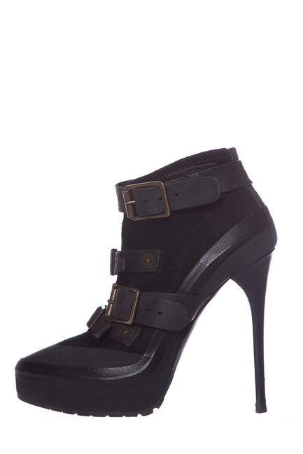 Item - Black Suede Leather Boots/Booties Size EU 38 (Approx. US 8) Regular (M, B)