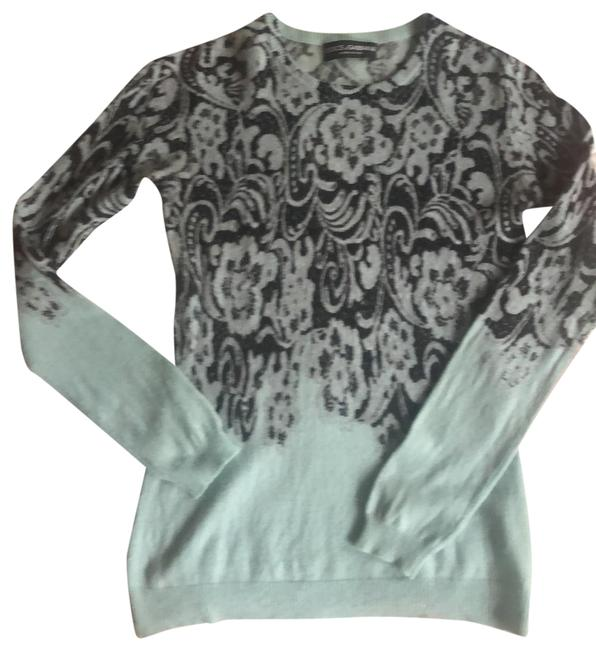 Item - Blue and Black Cashmere D&g Sweater Cardigan Size 2 (XS)