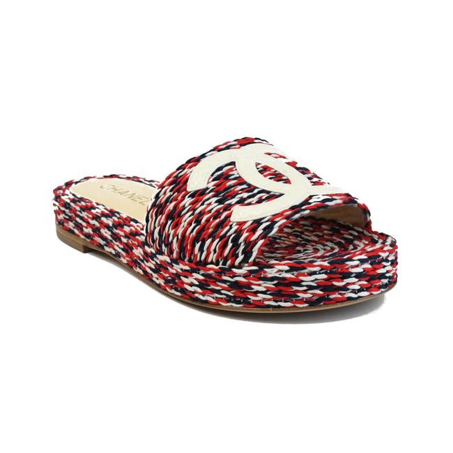 Item - Red/ Blue/ White Red/Blue/White Mules/Slides Size EU 36 (Approx. US 6) Regular (M, B)