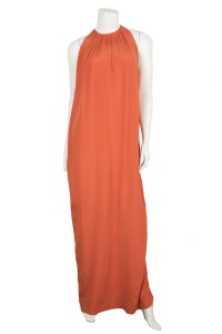 orange Maxi Dress by Céline