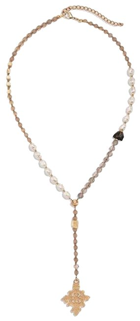 Item - Pearl Crystal Bryn Long Pendant Necklace