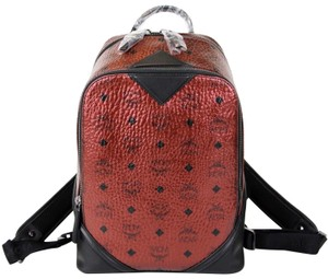 MCM Coated Canvas Small Backpack