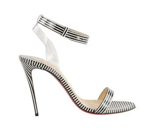Christian Louboutin Pigalle Stiletto Classic Ankle Strap Drama Black Sandals
