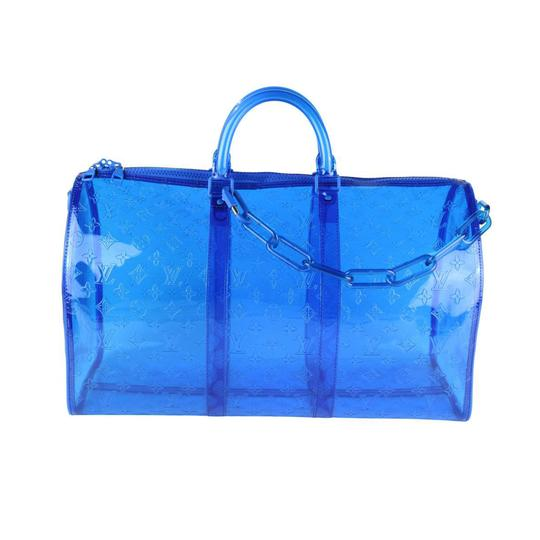 Louis Vuitton Neverfull Damier Fashion Week Limited Edition Duffle Blue Travel Bag Image 1