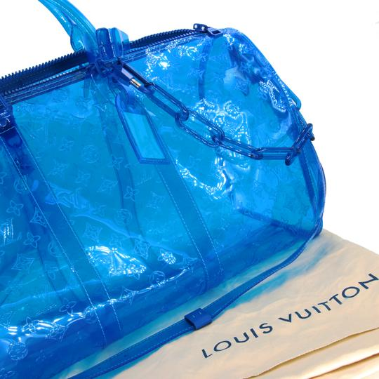 Louis Vuitton Neverfull Damier Fashion Week Limited Edition Duffle Blue Travel Bag Image 6