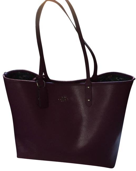Item - M1647-f57667 Purple and Multicolored Leather Tote