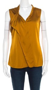Elie Tahari Top mustard yellow