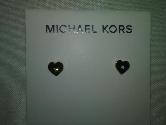 Michael Kors Clear Stone Heart Bracelet and Earrings Set