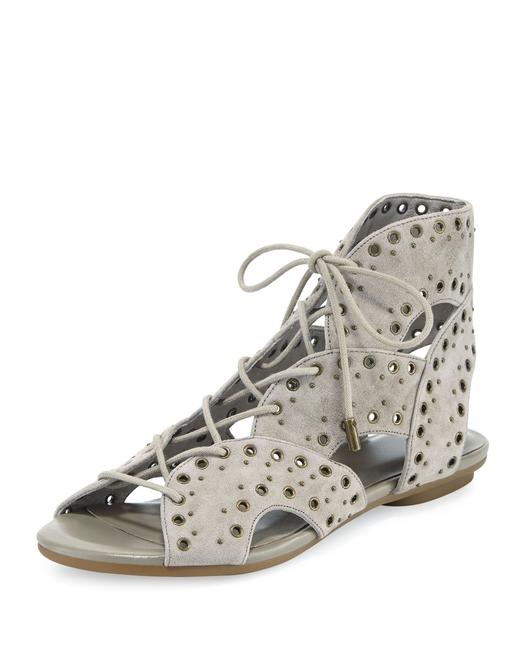 Joie Grey Fabienne Lace-up Flat Sandals Size EU 37.5 (Approx. US 7.5) Regular (M, B) Joie Grey Fabienne Lace-up Flat Sandals Size EU 37.5 (Approx. US 7.5) Regular (M, B) Image 1