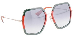 Gucci Women's Square and Rectangle Oversize square-frame metal sunglasses - Style Number GG0106S
