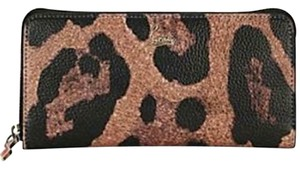 Christian Louboutin PANETTONE Leopard Leather Zip Around Wallet Clutch