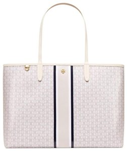 Tory Burch Tote in New Ivory/Navy/Gray