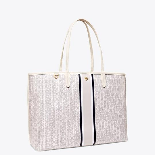 Tory Burch Tote in New Ivory/Navy/Gray Image 1