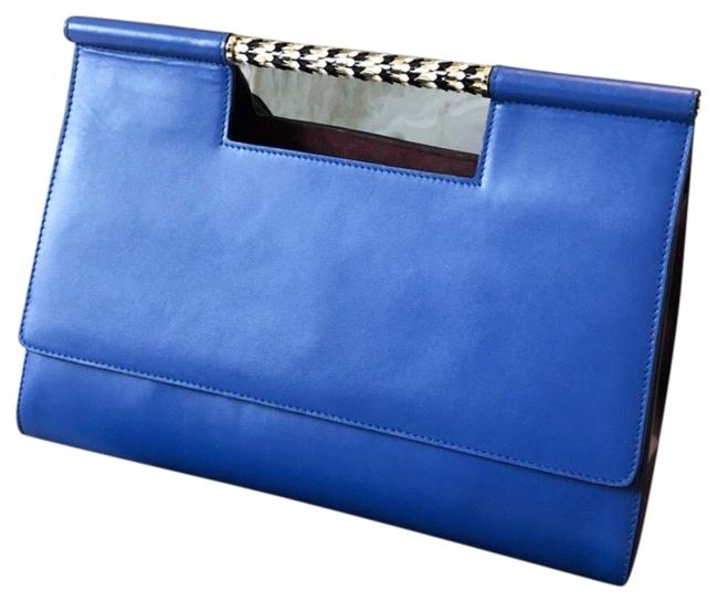 Item - Top Handle Scaglie Bag. Blue Leather Tote