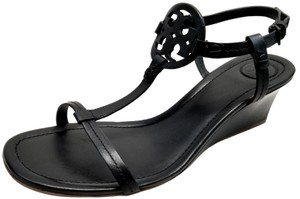 Tory Burch Leather Made In Brazil Black Wedges
