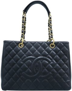 Chanel Caviar Shopping Tote Gst Shoulder Bag