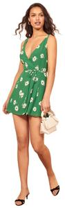 Reformation short dress Green Floral on Tradesy