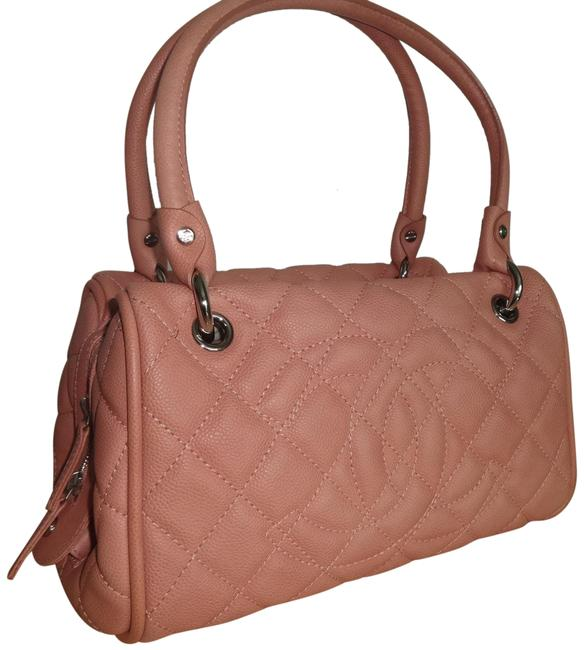 Chanel Large Bowler Pink Leather Tote Chanel Large Bowler Pink Leather Tote Image 1