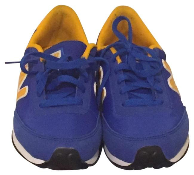 Item - Blue and Yellow 410 Sneakers Size US 8 Regular (M, B)