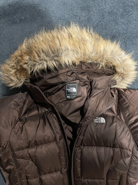 The North Face Brown with Tan Fur Trim Hooded Coat Size 8 (M) The North Face Brown with Tan Fur Trim Hooded Coat Size 8 (M) Image 4
