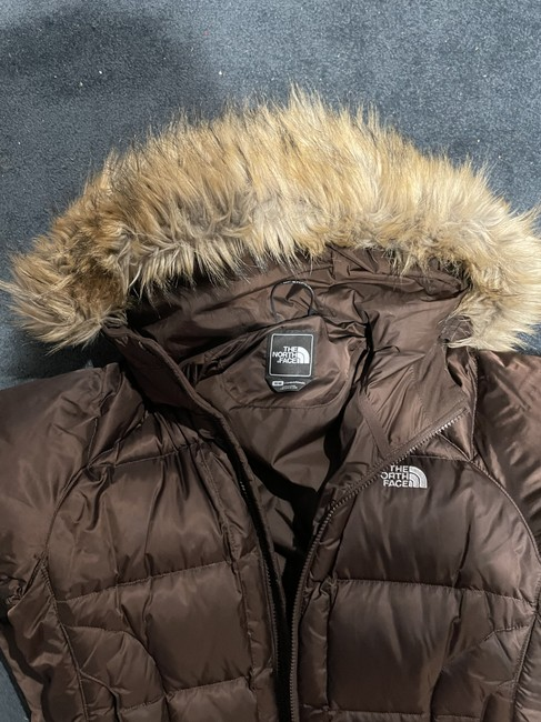 The North Face Brown with Tan Fur Trim Hooded Coat Size 8 (M) The North Face Brown with Tan Fur Trim Hooded Coat Size 8 (M) Image 5