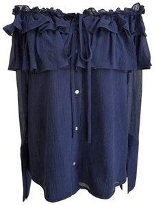 Opening Ceremony Top Navy Blue