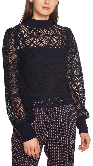 Preload https://img-static.tradesy.com/item/25576565/1state-blue-cropped-lace-night-blouse-size-2-xs-0-1-650-650.jpg