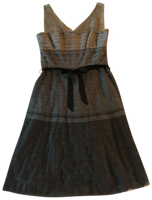 Item - Multi Black and Grey Tjn6n588-0a4 Wendy Short Cocktail Dress Size 6 (S)