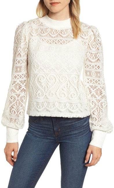 Preload https://img-static.tradesy.com/item/25576589/1state-white-cropped-lace-blouse-size-2-xs-0-1-650-650.jpg