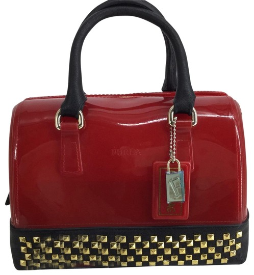 Preload https://img-static.tradesy.com/item/25576664/furla-nwot-bauletto-candy-studded-redblack-red-with-black-leather-trim-and-gold-studs-rubber-satchel-0-1-540-540.jpg
