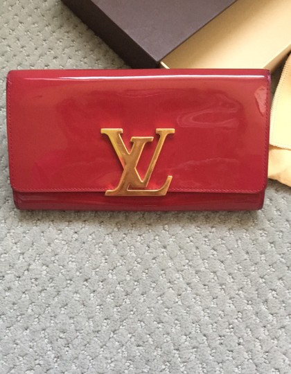 Louis Vuitton Louis Vuitton Patent Leather logo Wallet/Clutch Image 1