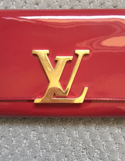 Louis Vuitton Louis Vuitton Patent Leather logo Wallet/Clutch Image 2