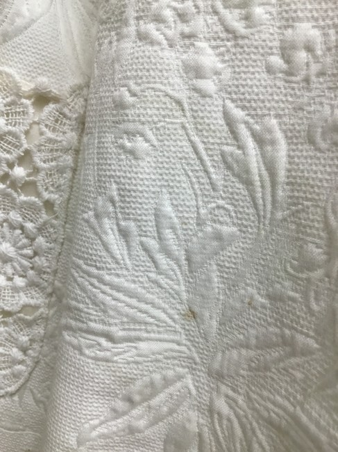 Dolce&Gabbana White jacquard skirt suit with white lace detail Image 10