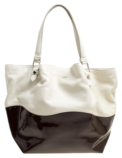 Preload https://img-static.tradesy.com/item/25576716/tod-s-flower-whitebrown-leather-and-patent-leather-medium-white-satin-tote-0-1-540-540.jpg