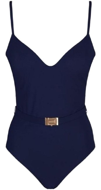 Preload https://img-static.tradesy.com/item/25576734/tory-burch-navy-belted-swimsuit-size-sp-one-piece-bathing-suit-size-4-s-0-1-650-650.jpg