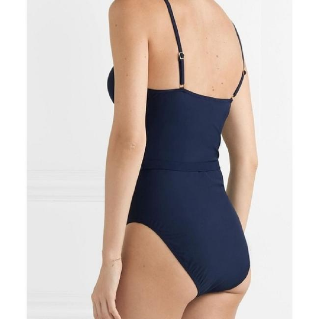 Tory Burch TORY BURCH Belted NAVY Swimsuit-Size S/P Image 2