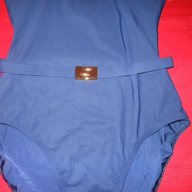 Tory Burch TORY BURCH Belted NAVY Swimsuit-Size S/P Image 5