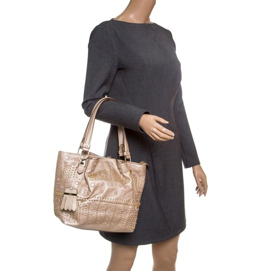 Tod's Leather Nylon Tote in Beige Image 2