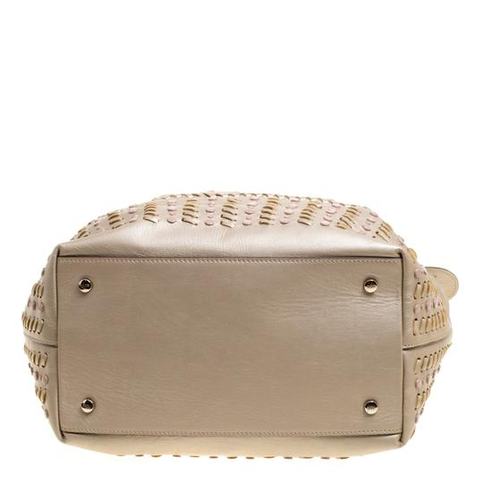Tod's Leather Nylon Tote in Beige Image 4