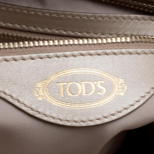 Tod's Leather Nylon Tote in Beige Image 5
