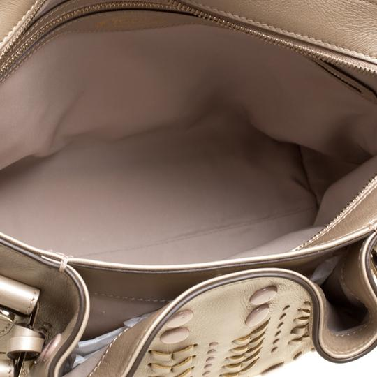 Tod's Leather Nylon Tote in Beige Image 6