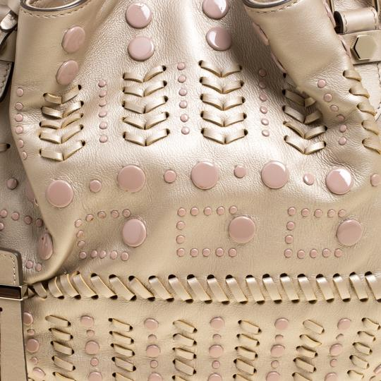 Tod's Leather Nylon Tote in Beige Image 9
