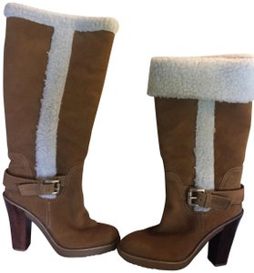 MICHAEL Michael Kors Shearling Suede Size 8.5 camel Boots