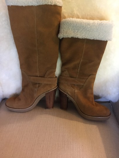 MICHAEL Michael Kors Shearling Suede Size 8.5 camel Boots Image 1