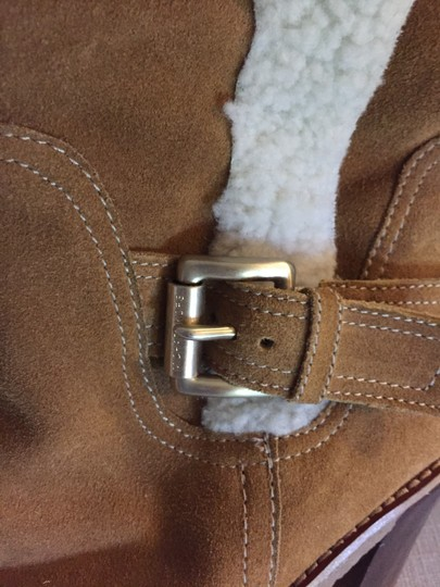 MICHAEL Michael Kors Shearling Suede Size 8.5 camel Boots Image 3