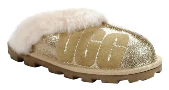 Preload https://img-static.tradesy.com/item/25576762/ugg-australia-beige-glittersparkle-sealed-slipper-flats-size-eu-39-approx-us-9-regular-m-b-0-1-540-540.jpg