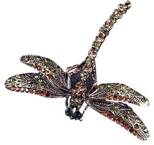 Other Vintage inspired Dragonfly Crystal Scarf Pin/ Brooch