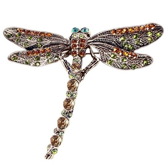 Other Vintage inspired Dragonfly Crystal Scarf Pin/ Brooch Image 1