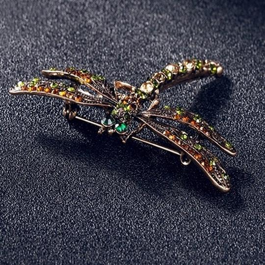 Other Vintage inspired Dragonfly Crystal Scarf Pin/ Brooch Image 2